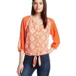 Kut From The Kloth Mila Tie Front Blouse Top